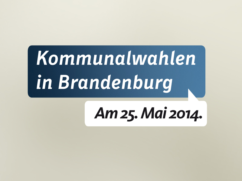 Kommunalwahl in Brandenburg am 25. Mai 2014